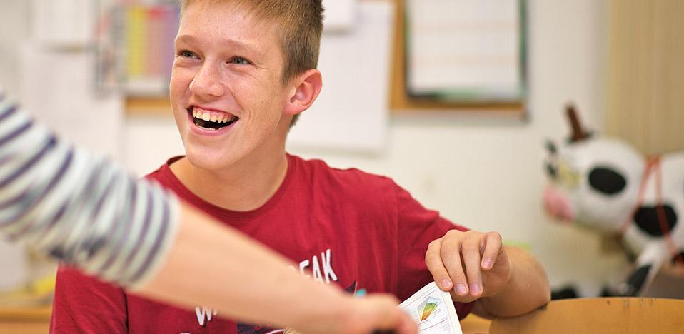 Auch im Unterricht gibt es Einiges zu lachen!